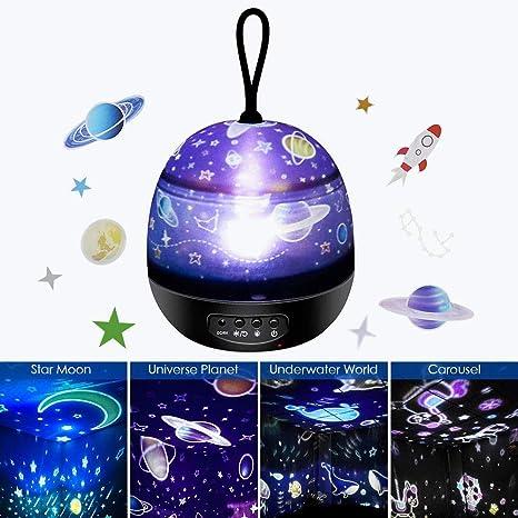 Amazon.com: Etmury - Luces nocturnas giratorias de 360 ...