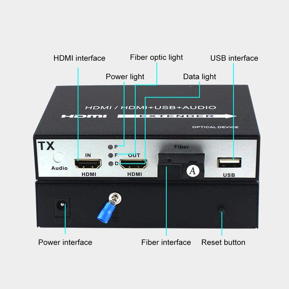 Pbzydu HDMI Extender 1 Channel HDMI Extender 1 Channel Local Loop Output USB Interface 100-240V