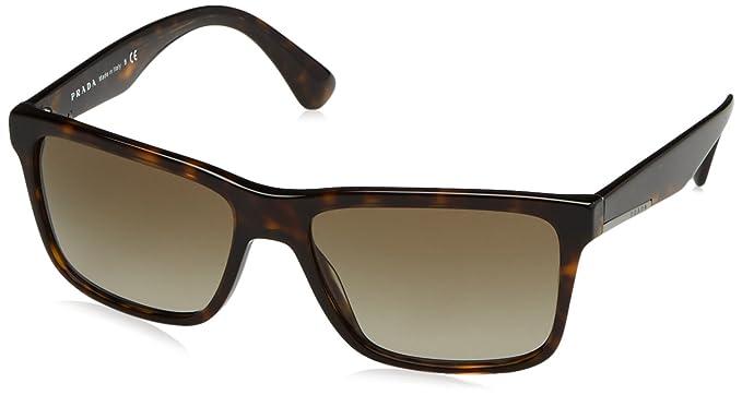 Prada Herren Sonnenbrille 0PR19SS 2AU1X1, Braun (Havana/Brown), 59