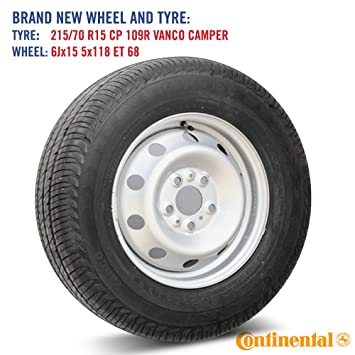 Spare Wheel and Continental Vanco Camper Tyre for Fiat Ducato and Autotrail  Motorhome - 15 quot  32e0a81cb2cb