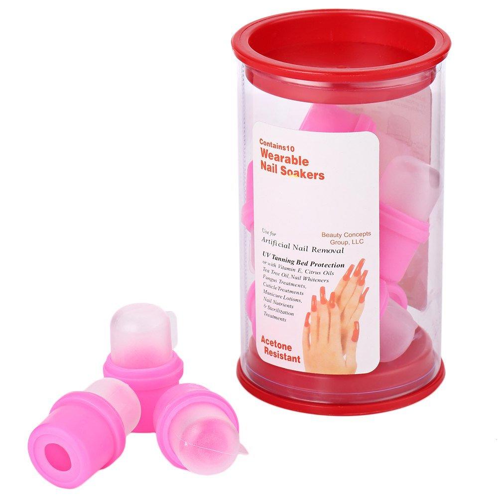 Amazon.com : 10 Pcs Wearable Nail Soakers Polish Remover DIY Acrylic ...