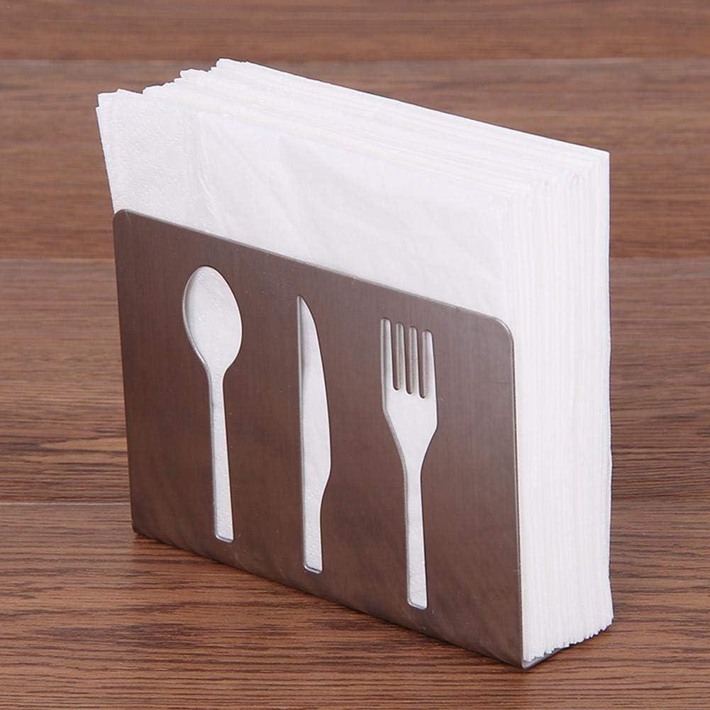 Servilletero de acero inoxidable para servilletas elegante dispensador de servilletas para mesa o cocina dise/ño innovador y vertical color plateado favourall