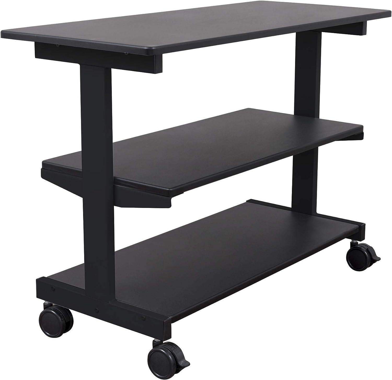 Stand Up Desk Store 3-Shelf Side Return Rolling Quantity Popular limited Organi
