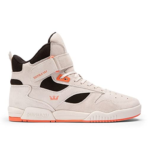 Supra Mens Bleeker Off White Black Coral Off White Shoes