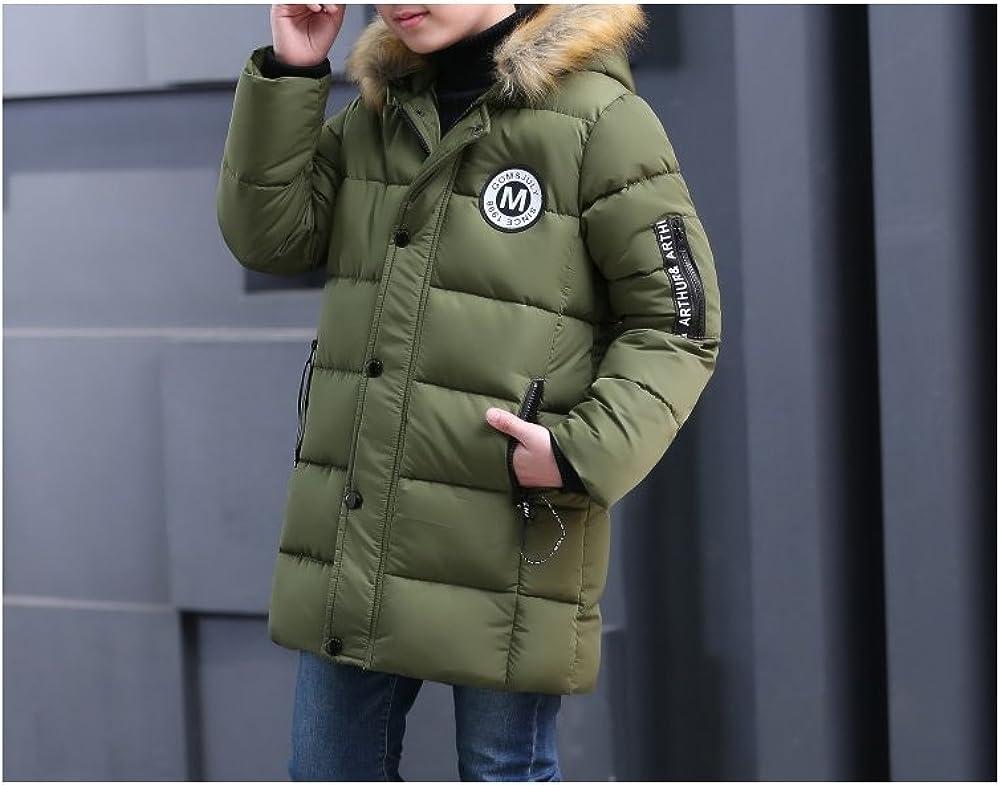 Cappotto invernale imbottito con cappuccio in pelliccia per bambini parka invernale Phorecys