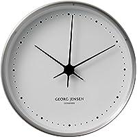 Georg Jensen Koppel wall clock stainless steel white dial analog 22cm Silver 3587574