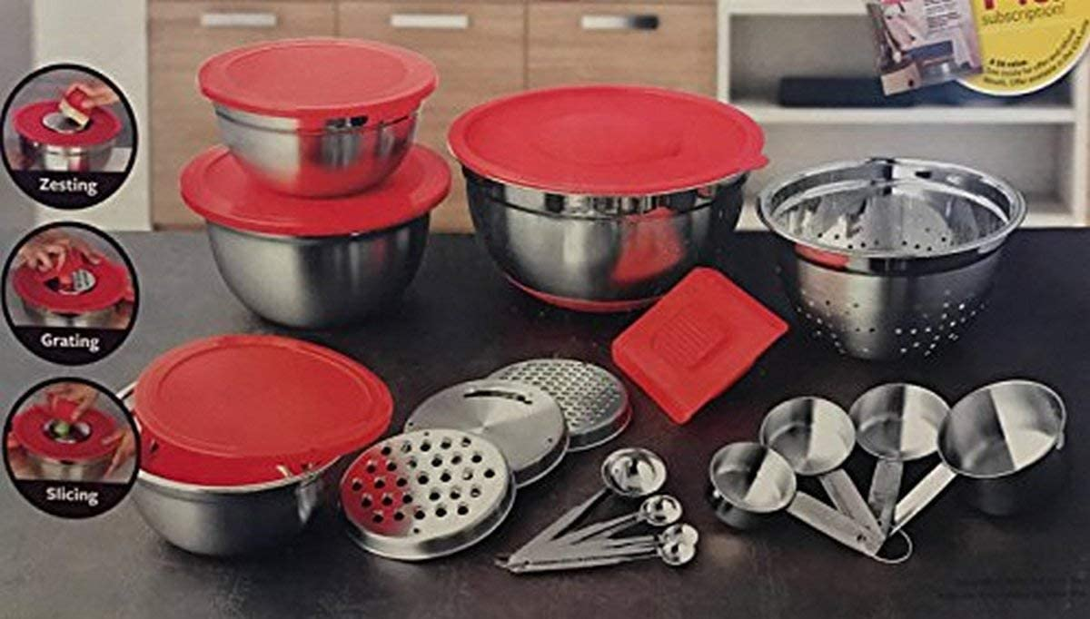 Better Homes and Gardens 21 Piece Stainless Steel Measure and Mix Kitchen Set