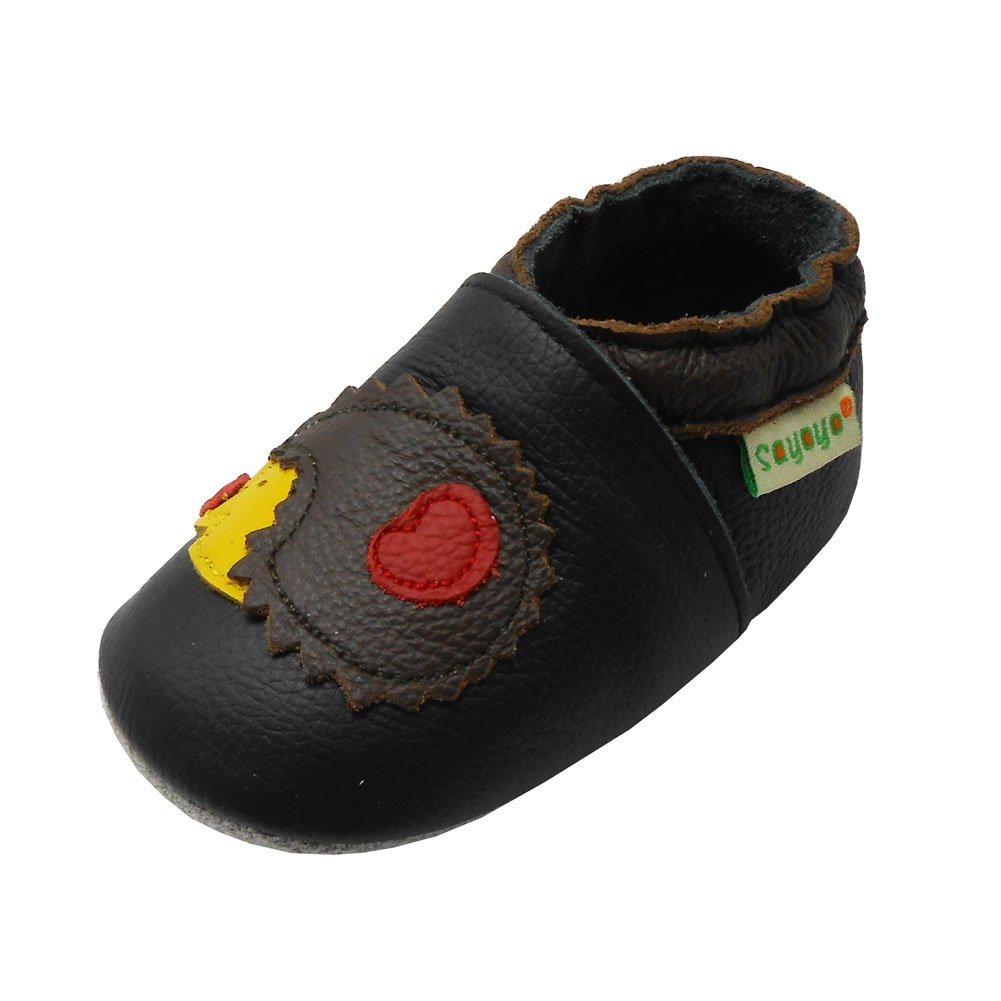 Sayoyo Igel und Pilz Krabbelschuhe Weiches Lederpuschen Babyschuhe A1024-1