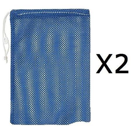 2 Pack Champion 12x18 Heavy Duty Nylon Mesh Equipment Ball Bag w//Drawstring