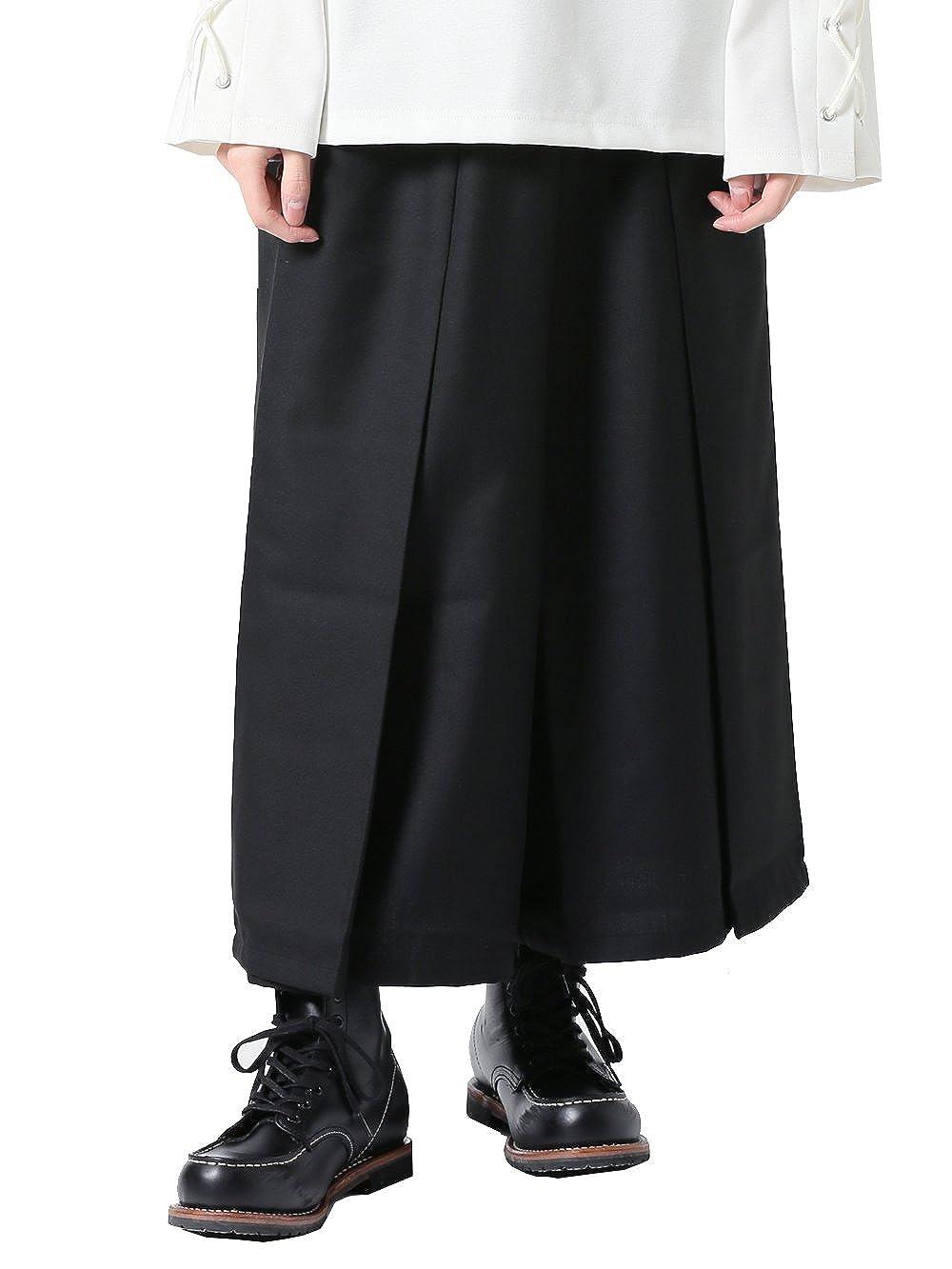 (アズスーパーソニック) AS SUPER SONIC ワイドパンツ 袴パンツ ガウチョ モード系 日本製 メンズ B011G0HPDM  ブラック Free