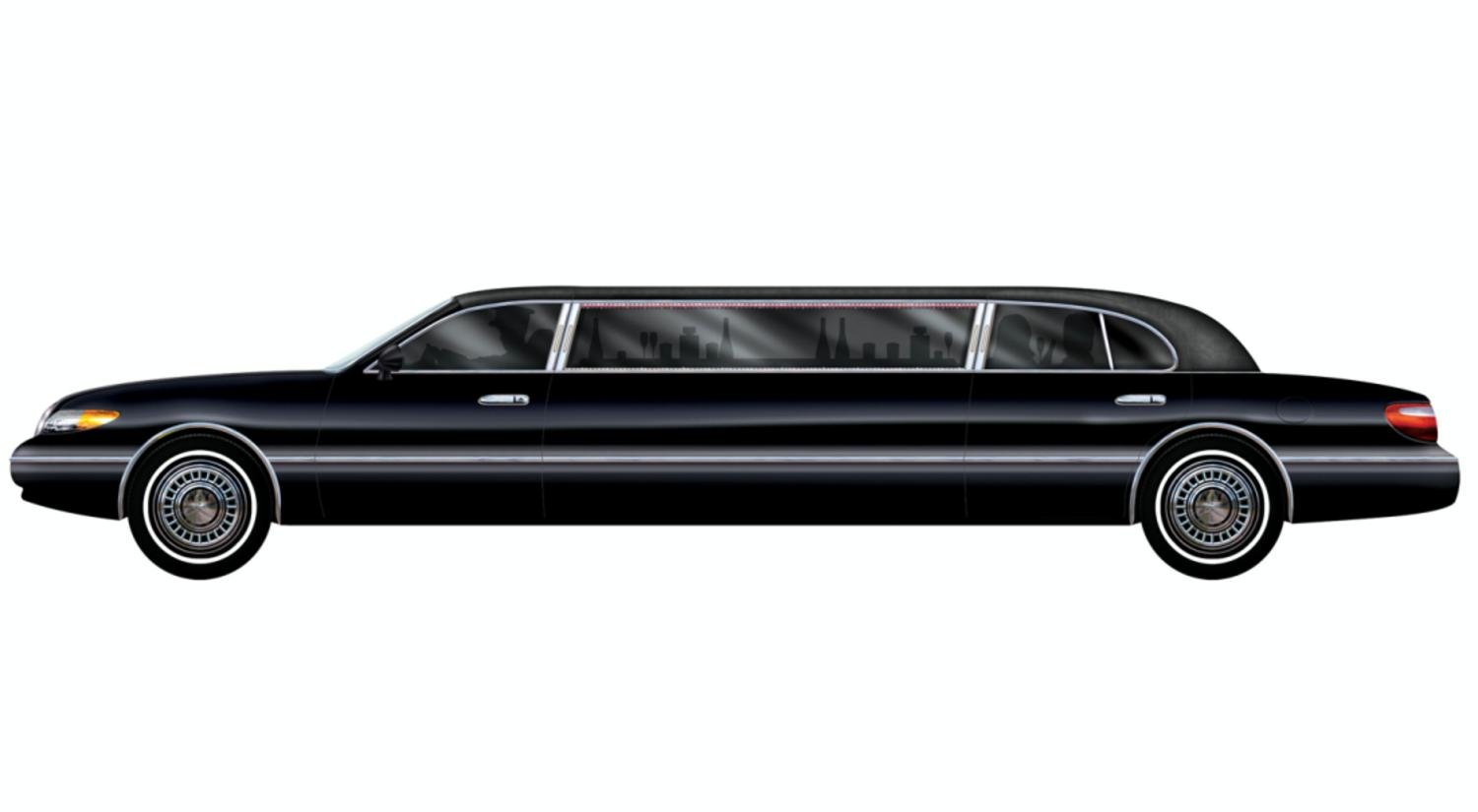 Pack of 12 Hollywood Movie Theme Jointed Black Limo Car Party Decorations 6'