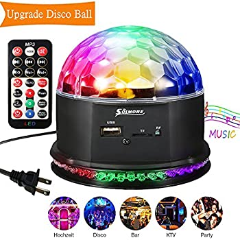 Disco Party Light SOLMORE Disco Lights for Parties Rotating Ball L& LED Stage Lighting DJ  sc 1 st  Amazon.com & Disco Party Light SOLMORE Disco Lights for Parties Rotating Ball ... azcodes.com