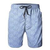 zebra blue car seat covers - FERNANDO HUNG Sky Blue Knit Fabric With Diamond Men's Leisure Breathable Short Pant Swimming Pant Beach Pants Short Pants