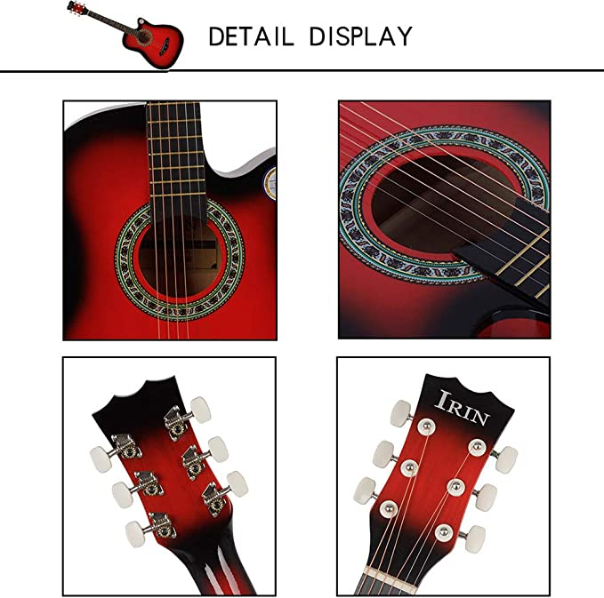 BLKykll Guitarra Clásica Apto para Principiantes Enseñanza ...