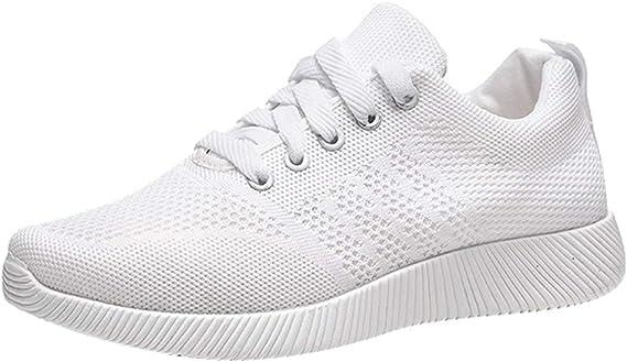 Dtuta Baskets Femmes, Respirantes Mode Chaussures athlétiques Solide Décontractée Étudiant Fonctionnement Le jogging Yoga Des chaussures