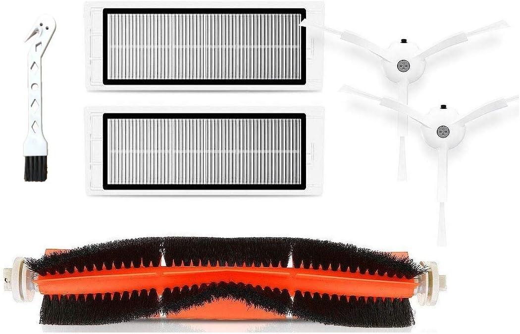 APLUSTECH Recambios para Roborock S50 S51 S55 S5 S6 - Accesorios para Xiaomi MI Mijia Robot Aspiradora - Cepillo Principal, Cepillo Lateral, Filtro HEPA.