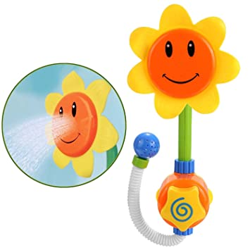 LITTLEPIG Sunflower Baby Bath Toys Water Shower Spray Bathing Tub Fountain  Toys For Kid Gifts