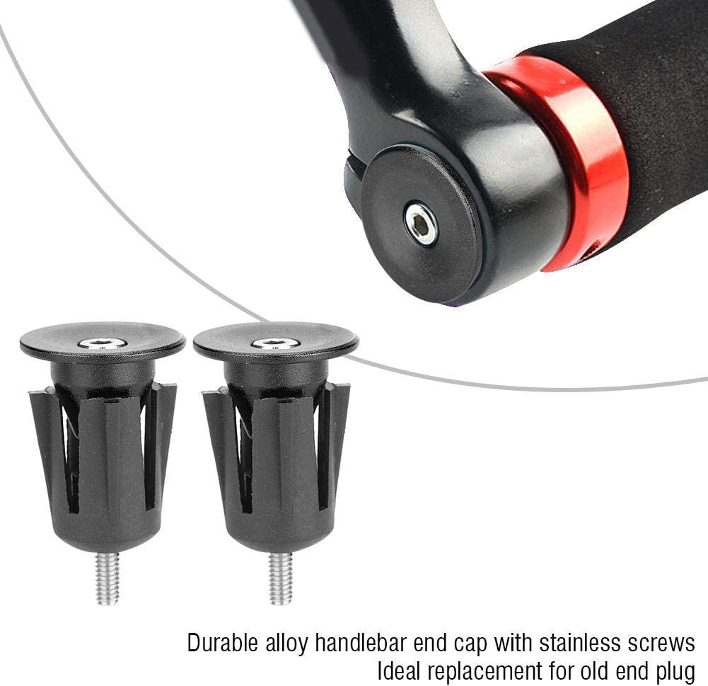 1Pair MTB Bike Handlebar Cap Bicycle Scooter Grips End Lock-On Plugs Bar Grips❤E