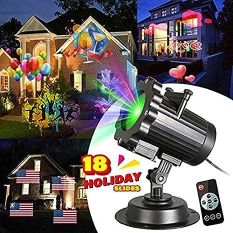 Amazon.com: Luces LED para proyector de Navidad con 18 ...