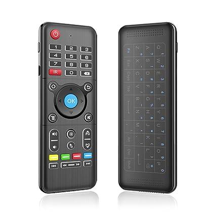 Kreema Fly Air Mouse 2.4GHz teclado inalambrico QWERTY tactil IR Remote con retroiluminacion LED para