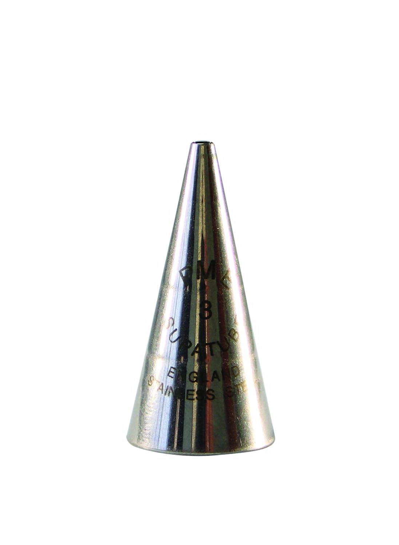 PME ST3 Bocchetta Decorativa Professionale, Acciaio Inossidabile, Argento, 1.72 x 1.72 x 3.5 cm