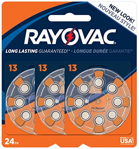 Rayovac Mercury Hearing Batteries L13ZA 24ZM
