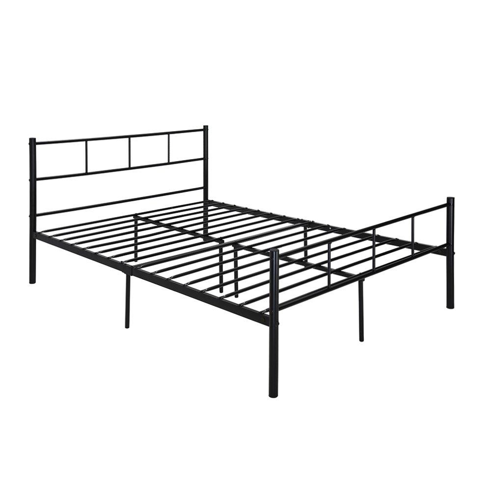 Amazon.de: Doppelbett Rahmen markliu Kopfteil Queen Size Bettgestell ...