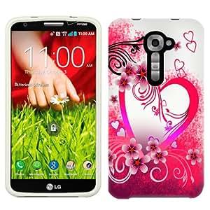 Sprint LG G2 Purple Love on White Phone Case Cover