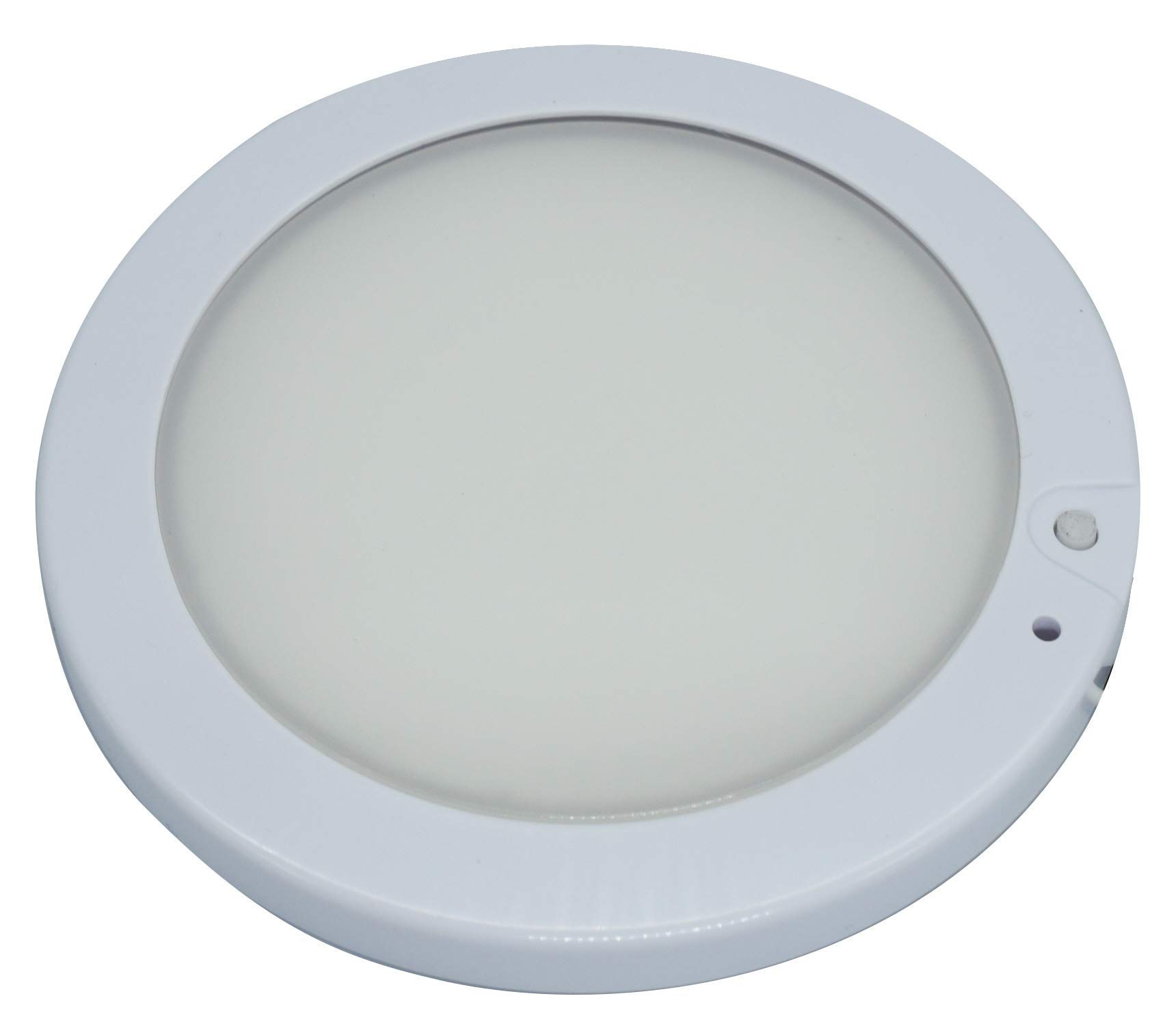 CDM product Facon 5Inch LED RV Panel Light Surface Mount 12V DC Interior Light with On&Off Switch and Indicator for RV Motorhome Camper Caravan Marine (Cool White) big image
