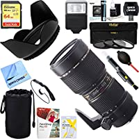 Tamron (AF001NII-700) SP AF70-200mm F/2.8 Di LD [IF] Macro For Nikon + 64GB Ultimate Filter & Flash Photography Bundle