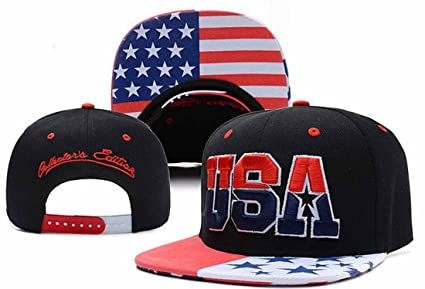 f4d2a43ce11 Image Unavailable. Image not available for. Color  Vip2014 USA American Flag  Snapback Cap Adjustable United States Baseball Cap Hat New