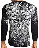 Xtreme Couture AFFLICTION Mens THERMAL T-Shirt OFFERING Tattoo Biker