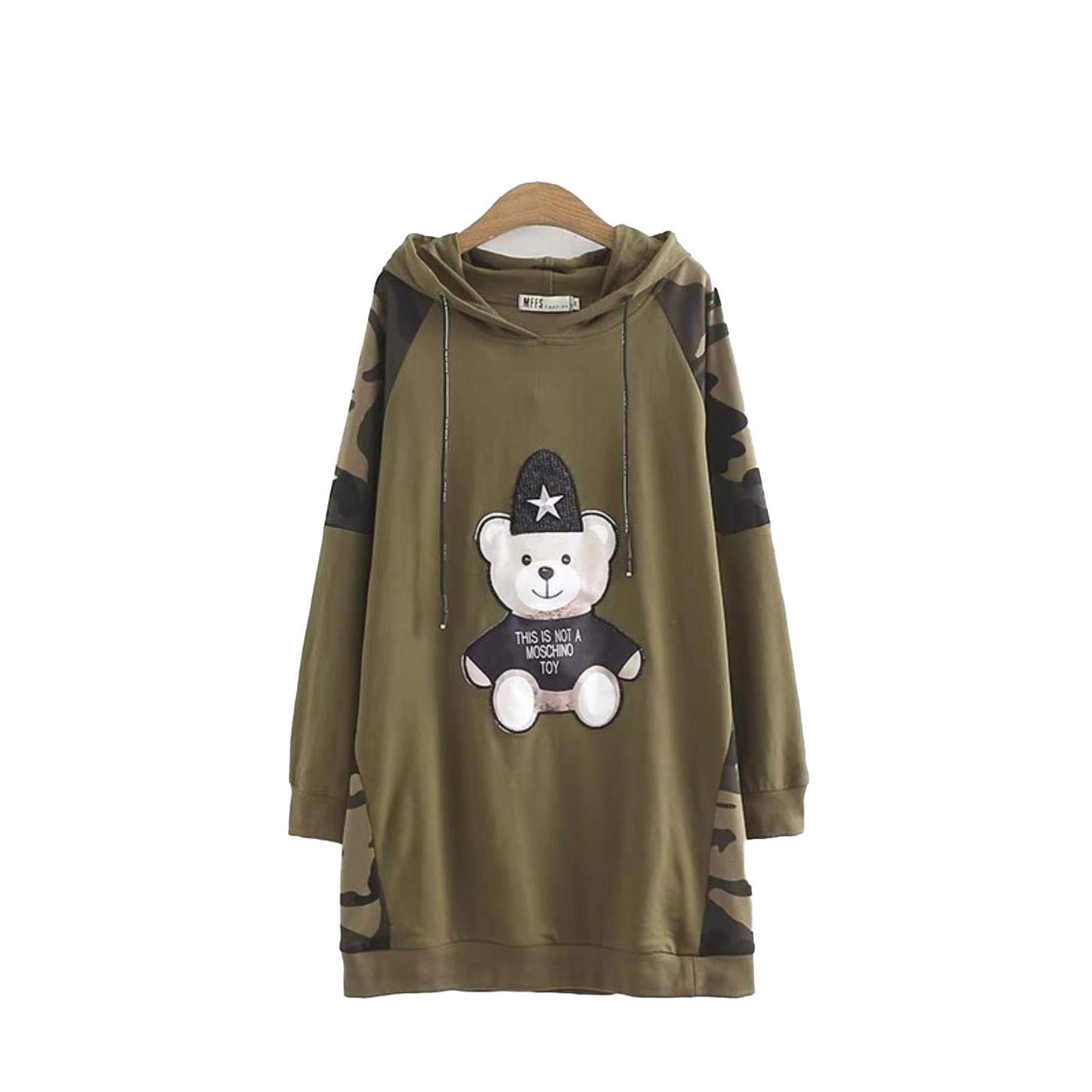 BTSSA Women's Embroidered Cotton Loose Sports Camouflage