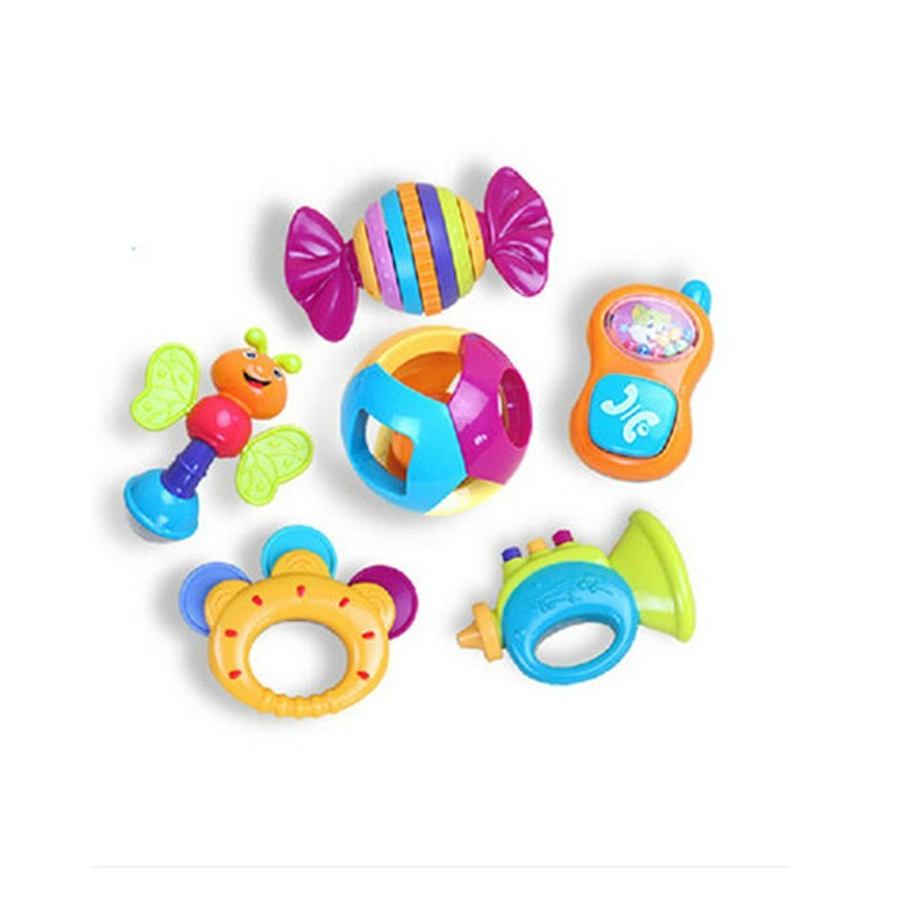 6 pcs Early Education 0-1 years Olds Baby Rattle Sets for baby & Kids Boys and Girls Eastsun Import Limited
