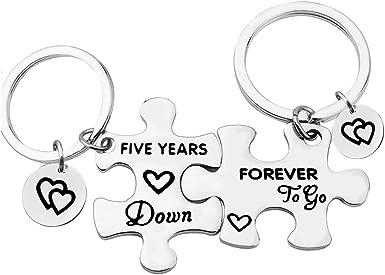 weddings Personalised Valentine Gifts Valentine Keyring Jigsaw Keyring