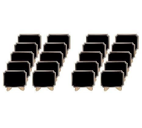 Allinlove - Juego de 20 Mini pizarras de Madera pequeñas con ...