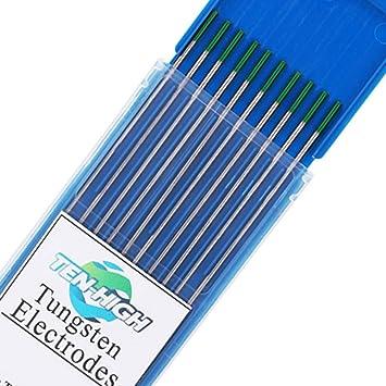 Para soldar acero inoxidable cerio 2/% gris TEN-HIGH tig Electrodos de tungsteno Electrodos de soldadura 2 mm x 175 mm