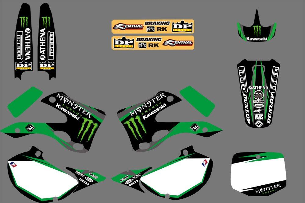 DST0049 Custom Decal Kit Motorcross Graphics Sticker for STICKERS Kits for KAWASAKI KX125 KX250 1999 2000 2001 2002