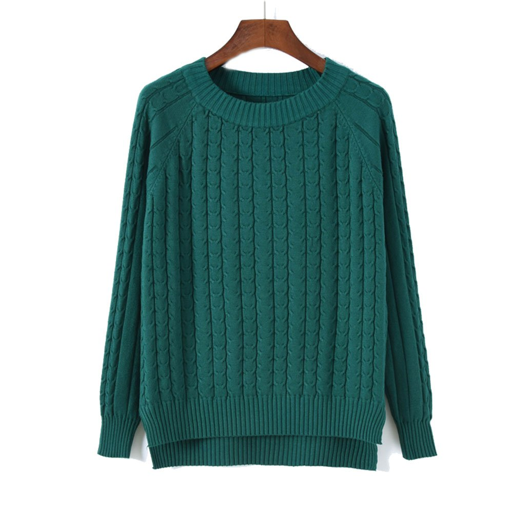 MAGUBA 2017 New Arrivals Women Sweater Pullover Female Casual Sweater Winter Fashion Shoulder Sleeve Style Knitted Sweaters (Green, m)