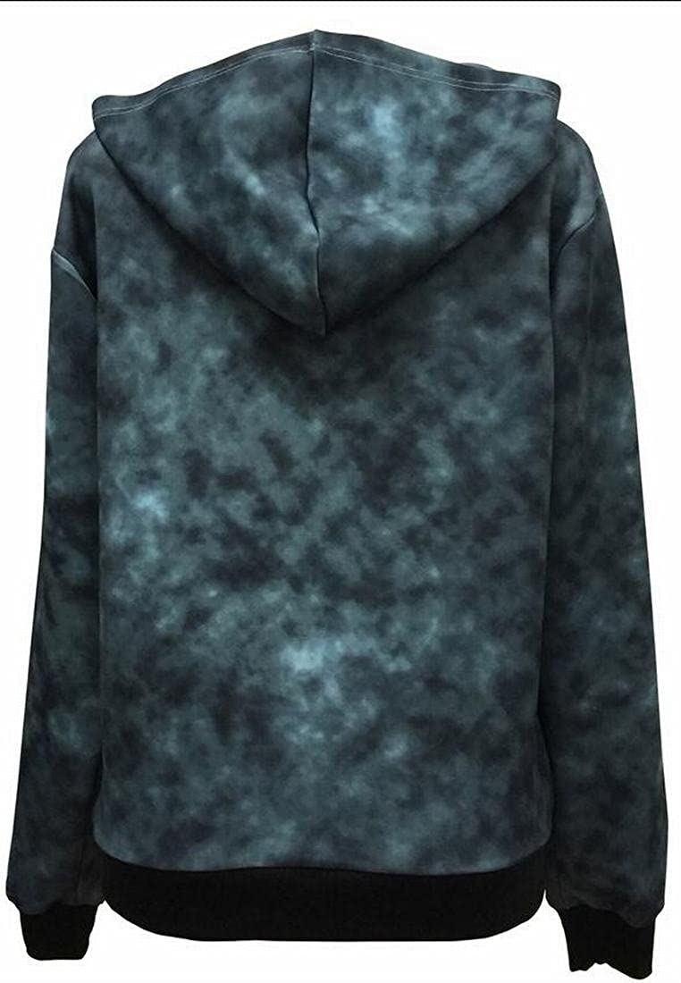HTOOHTOOH Mens Casual Slim Fit Skull Zipper Front Hooded Sweatshirts Coat Outwear