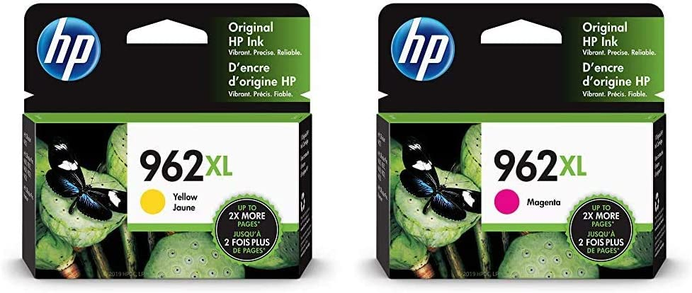 HP 962XL | Ink Cartridge | Yellow | 3JA02AN & 962XL | Ink Cartridge | Magenta | 3JA01AN