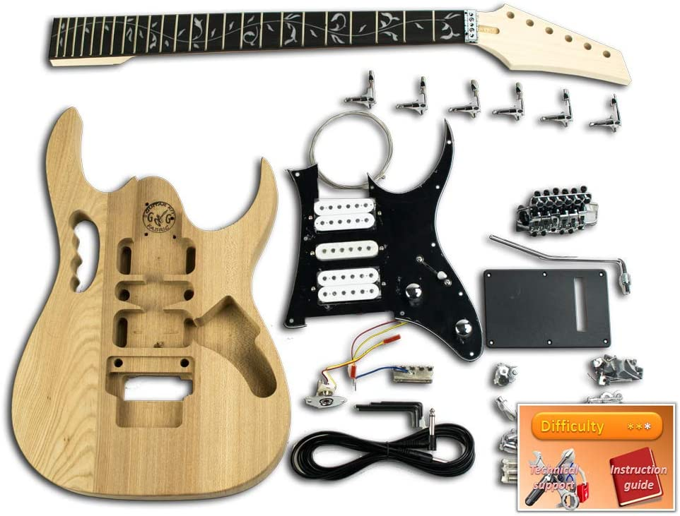 Kit de guitarra eléctrica DiY – Ibanez Jem cromado, ébano: Amazon ...
