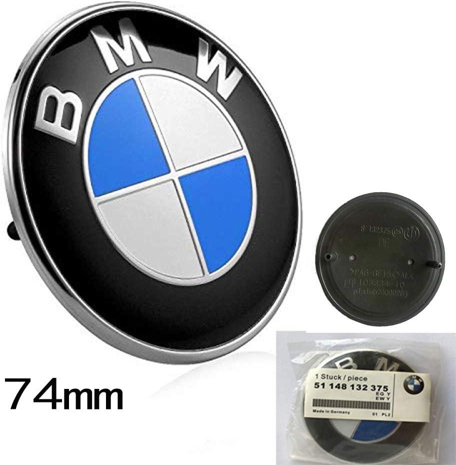 Haocc Loud - Emblema de repuesto para BMW E46, E90, E82, con 2 patas de 74 mm, 1 unidad