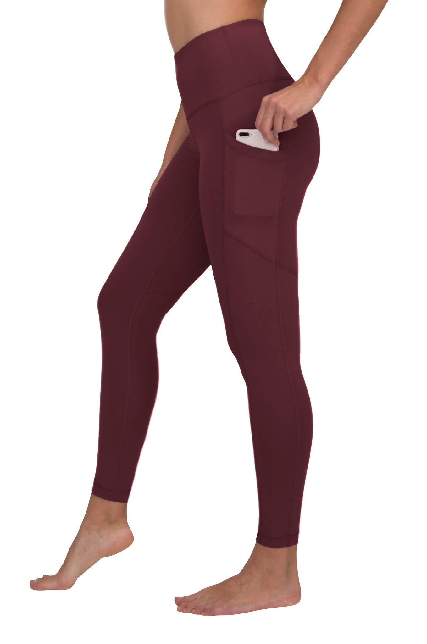 90 Degree By Reflex Women's Power Flex Yoga Pants - Cinnamon Cherry - XS by 90 Degree By Reflex