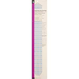 "Dritz 831 See-Thru Ruler 2"" x 18"""
