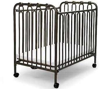 Amazon Com The Kingston Mini Wrought Iron Folding Crib Vintage Gold Baby