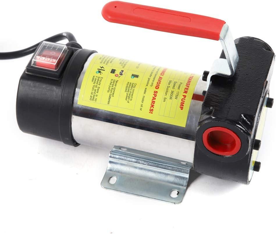 Dieselpumpe 12V 175W Kraftstoffpumpe Selbstansaugend 50L//min /Ölpumpe Heiz/ölpumpe mit Automatik Zapfpistole Mobile Tankstelle Gummi Ablaufschlauch