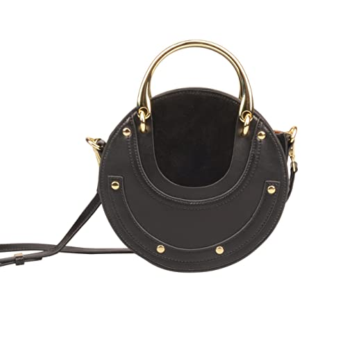 62826dba51 Ainifeel New Arrival Women s Genuine Leather Fashion Small Metal Handle On  Clearance (Small
