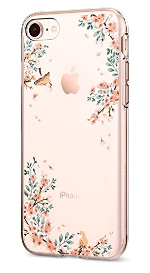reputable site a1cba 1e03f Spigen Liquid Crystal [2nd Generation] iPhone 8 Case/iPhone 7 Case with  Slim Protection and Premium Clarity for Apple iPhone 8 (2017) / iPhone 7 ...