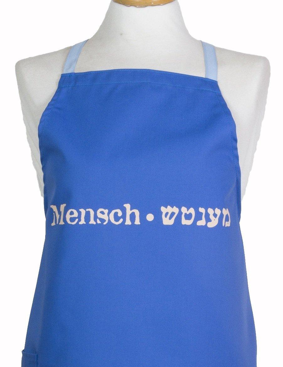 Yiddish Mensch Made in Jerusalem Barbara Shaw Gifts Kosher Mens Apron Gifts for Men Israeli Gifts Jewish Gifts